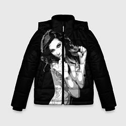 Куртка зимняя для мальчика Sexy Girl: Black & White цвета 3D-черный — фото 1
