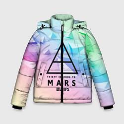 Детская зимняя куртка для мальчика с принтом 30 Seconds to Mars, цвет: 3D-черный, артикул: 10149845306063 — фото 1