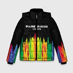 Детская зимняя куртка для мальчика с принтом Imagine Dragons: Radioactive, цвет: 3D-черный, артикул: 10149906706063 — фото 1