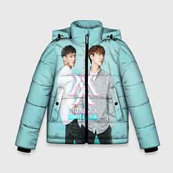 Куртка зимняя для мальчика Shownu & Kihyun цвета 3D-черный — фото 1