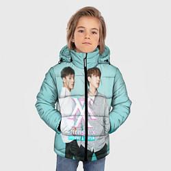 Детская зимняя куртка для мальчика с принтом Shownu & Kihyun, цвет: 3D-черный, артикул: 10150036506063 — фото 2