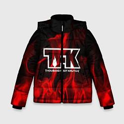 Куртка зимняя для мальчика Thousand Foot Krutch: Red Flame цвета 3D-черный — фото 1