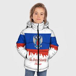 Куртка зимняя для мальчика St. Petersburg: Russia цвета 3D-черный — фото 2