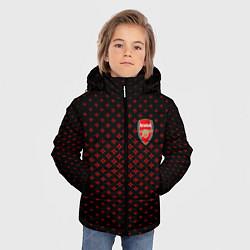 Куртка зимняя для мальчика Arsenal: Sport Grid цвета 3D-черный — фото 2