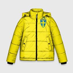 Куртка зимняя для мальчика Сборная Швеции: Домашняя ЧМ-2018 цвета 3D-черный — фото 1