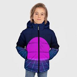Куртка зимняя для мальчика Digital Sunrise цвета 3D-черный — фото 2