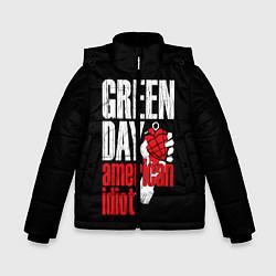 Куртка зимняя для мальчика Green Day: American Idiot цвета 3D-черный — фото 1