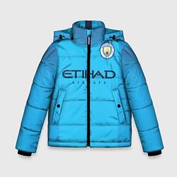 Куртка зимняя для мальчика FC Man City: Home 18-19 цвета 3D-черный — фото 1
