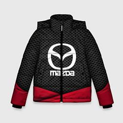 Детская зимняя куртка для мальчика с принтом Mazda: Grey Carbon, цвет: 3D-черный, артикул: 10152624706063 — фото 1