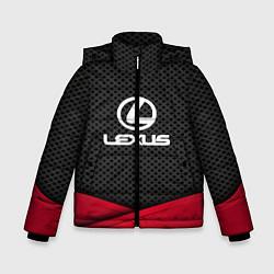 Куртка зимняя для мальчика Lexus: Grey Carbon цвета 3D-черный — фото 1