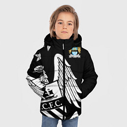 Детская зимняя куртка для мальчика с принтом FC Manchester City: Exclusive, цвет: 3D-черный, артикул: 10152836906063 — фото 2