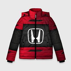 Куртка зимняя для мальчика Honda Sport цвета 3D-черный — фото 1