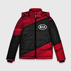 Детская зимняя куртка для мальчика с принтом Kia: Red Sport, цвет: 3D-черный, артикул: 10152996306063 — фото 1