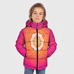 Куртка зимняя для мальчика Солнечная мандала цвета 3D-черный — фото 2