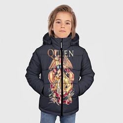 Куртка зимняя для мальчика Queen цвета 3D-черный — фото 2