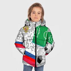 Детская зимняя куртка для мальчика с принтом Русский футбол, цвет: 3D-черный, артикул: 10156028106063 — фото 2