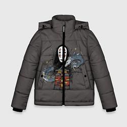 Детская зимняя куртка для мальчика с принтом Унесенные призраками, цвет: 3D-черный, артикул: 10156081306063 — фото 1