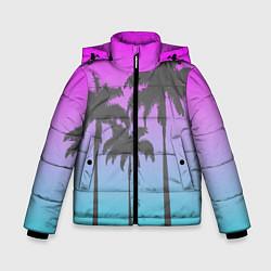 Куртка зимняя для мальчика Пальмы 80s цвета 3D-черный — фото 1