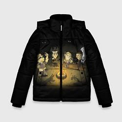 Куртка зимняя для мальчика Don't Starve campfire цвета 3D-черный — фото 1