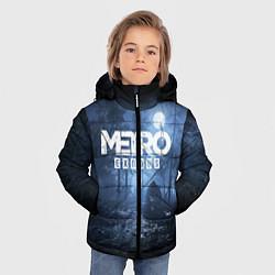 Детская зимняя куртка для мальчика с принтом Metro Exodus: Dark Moon, цвет: 3D-черный, артикул: 10161310106063 — фото 2