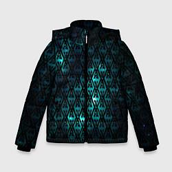 Куртка зимняя для мальчика TES: Blue Pattern цвета 3D-черный — фото 1