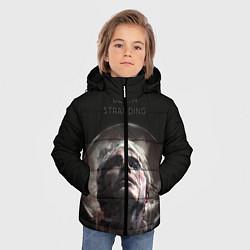 Куртка зимняя для мальчика Death Stranding: Mads Mikkelsen цвета 3D-черный — фото 2