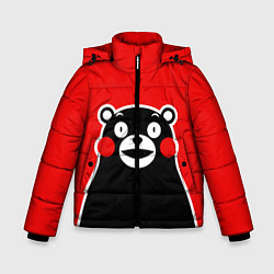 Куртка зимняя для мальчика Kumamon Smile цвета 3D-черный — фото 1