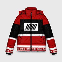 Куртка зимняя для мальчика IKON Stripes цвета 3D-черный — фото 1