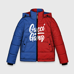 Куртка зимняя для мальчика Gucci Gang: Blue & Red цвета 3D-черный — фото 1