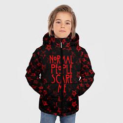 Куртка зимняя для мальчика AHS: Scare Me цвета 3D-черный — фото 2
