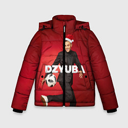 Куртка зимняя для мальчика Новогодний Дзюба цвета 3D-черный — фото 1