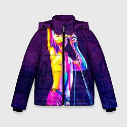 Куртка зимняя для мальчика Bohemian Rhapsody: Neon Style цвета 3D-черный — фото 1