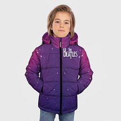 Куртка зимняя для мальчика The Beatles: Neon Style цвета 3D-черный — фото 2