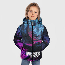 Куртка зимняя для мальчика Stranger Things: Wild Wood цвета 3D-черный — фото 2