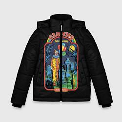 Детская зимняя куртка для мальчика с принтом Clowns Are Funny, цвет: 3D-черный, артикул: 10170996306063 — фото 1