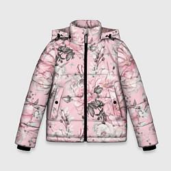 Куртка зимняя для мальчика Розовые розы цвета 3D-черный — фото 1