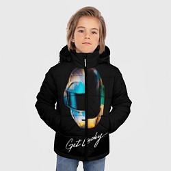 Детская зимняя куртка для мальчика с принтом Daft Punk: Get Lucky, цвет: 3D-черный, артикул: 10171255506063 — фото 2