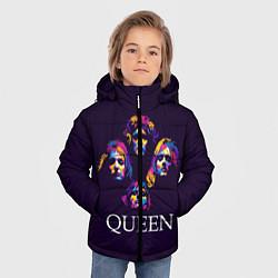 Куртка зимняя для мальчика Queen: Fan Art цвета 3D-черный — фото 2
