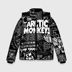 Куртка зимняя для мальчика Arctic Monkeys: I'm in a Vest цвета 3D-черный — фото 1