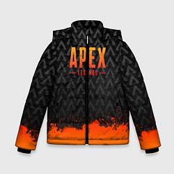 Куртка зимняя для мальчика Apex Legends: Orange Paint цвета 3D-черный — фото 1