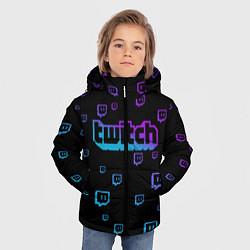 Куртка зимняя для мальчика Twitch: Neon Style цвета 3D-черный — фото 2