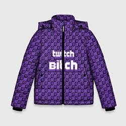 Куртка зимняя для мальчика Twitch Bitch цвета 3D-черный — фото 1