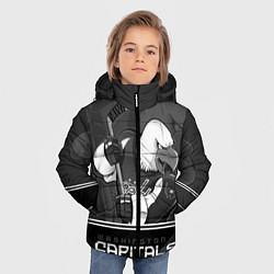 Детская зимняя куртка для мальчика с принтом Washington Capitals: Mono, цвет: 3D-черный, артикул: 10178513306063 — фото 2