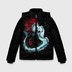 Куртка зимняя для мальчика Унесенные Призраками цвета 3D-черный — фото 1