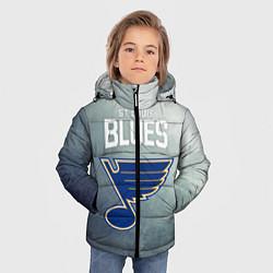 Куртка зимняя для мальчика St Louis Blues цвета 3D-черный — фото 2