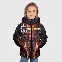 Куртка зимняя для мальчика Rammstein цвета 3D-черный — фото 2