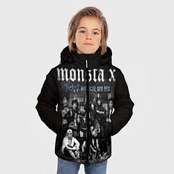Детская зимняя куртка для мальчика с принтом Monsta X, цвет: 3D-черный, артикул: 10186735506063 — фото 2