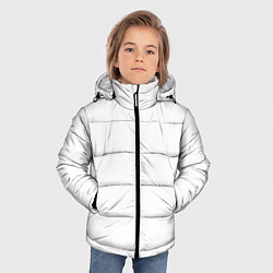 Куртка зимняя для мальчика Без дизайна цвета 3D-черный — фото 2