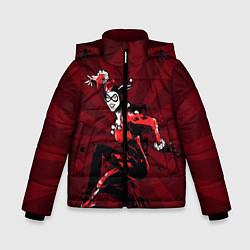 Куртка зимняя для мальчика Harley Quinn цвета 3D-черный — фото 1