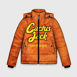 Детская зимняя куртка для мальчика с принтом Cactus Jack, цвет: 3D-черный, артикул: 10199295306063 — фото 1